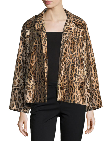 Windy Button-Front Leopard-Print Jacket