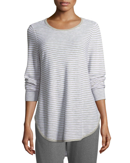 Eileen Fisher Linen-Blend Slub Top. Petite and Matching