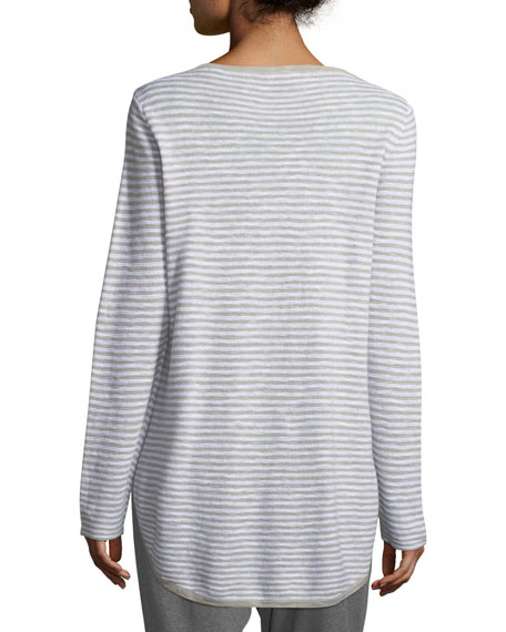 Linen-Blend Slub Top, Plus Size