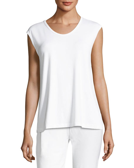 Eileen Fisher Soft Jersey Scoop-Neck Tunic