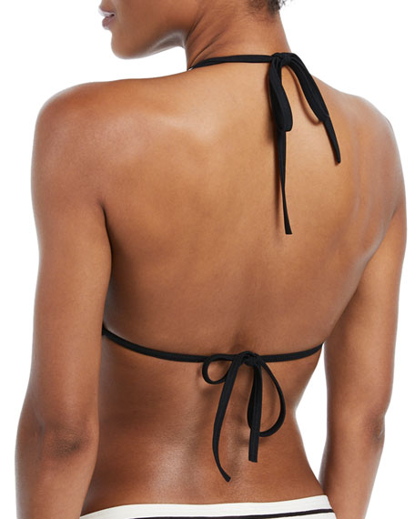 stinson beach striped halter bikini swim top