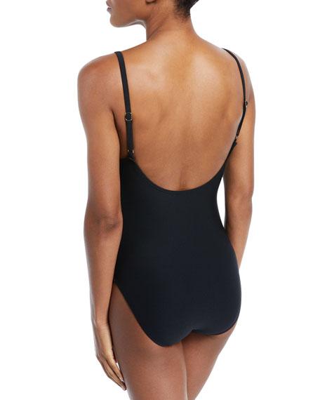 crescent bay scoop-neck one-piece swimsuit