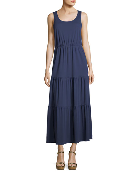Joan Vass Tiered Long Tank Dress and Matching