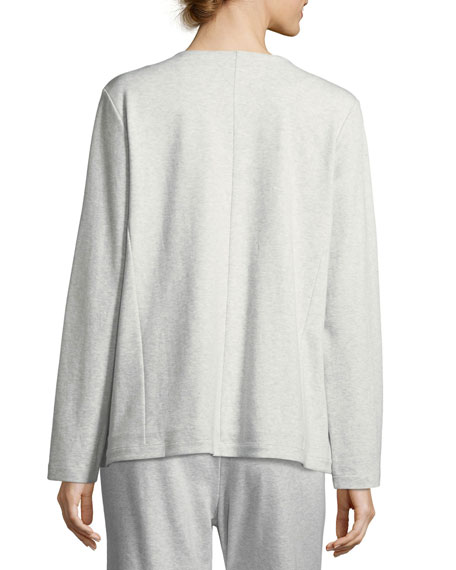 Embroidered Zip-Front Jacket, Plus Size