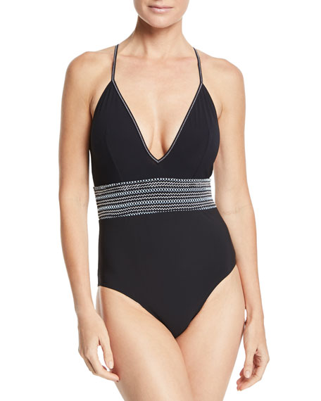 Eden One-Piece Swimsuit with Smocked Waist