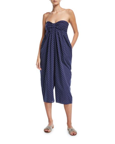 Marysia Leo Corillo Strapless Jumpsuit Coverup