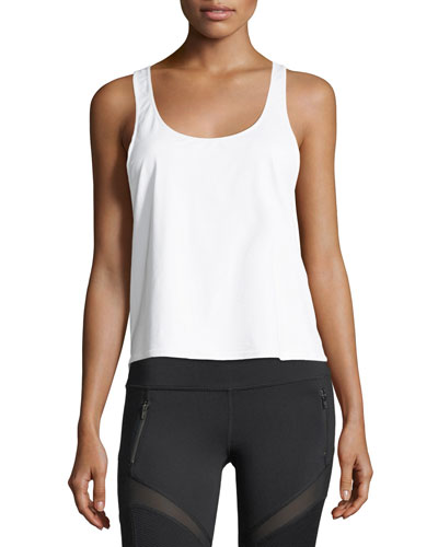 Scoop-Neck Twist-Back Performance Tank