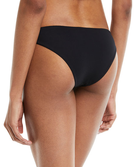 Low-Rise Hipster Solid Swim Bikini Bottoms