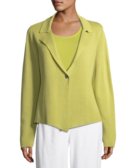 Silk-Blend Interlock Short Jacket