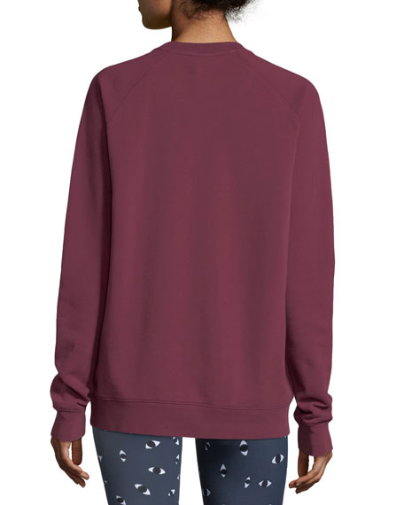 Sid Crewneck Logo Cotton Pullover Sweatshirt