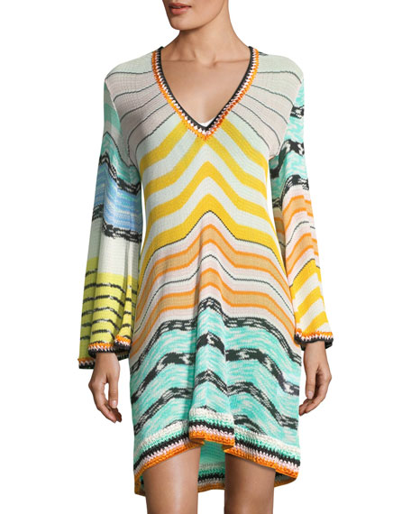 Missoni Mare Long-Sleeve Coverup Beach Dress