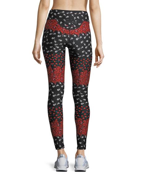 a61b8d40b624b The Upside Drawstring Floral-Print Compression Yoga Pants