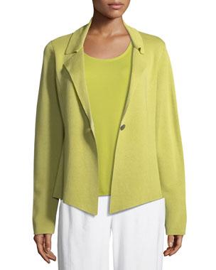 c49e952c410bb Eileen Fisher Silk-Blend Interlock Short Jacket