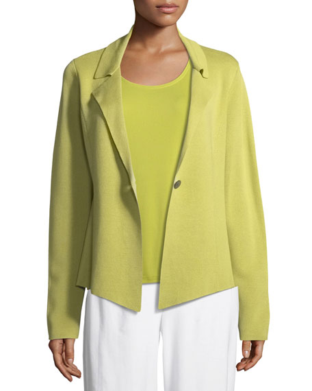 Eileen Fisher Silk-Blend Interlock Short Jacket, Plus Size