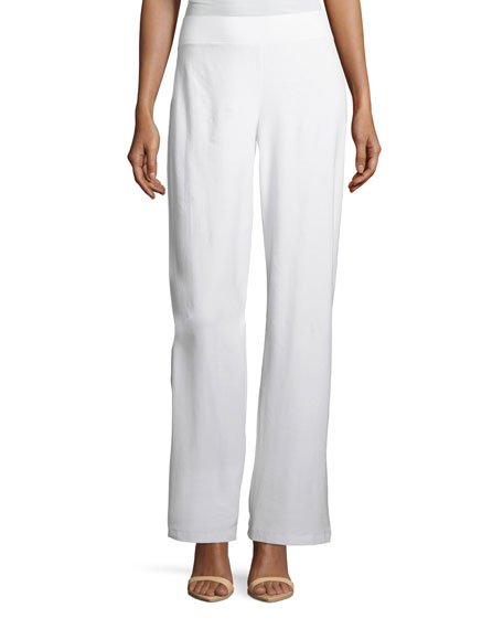 Eileen Fisher Washable Stretch Crepe Modern Wide-Leg Pants,