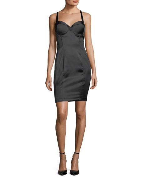 Short Satin Bustier Dress