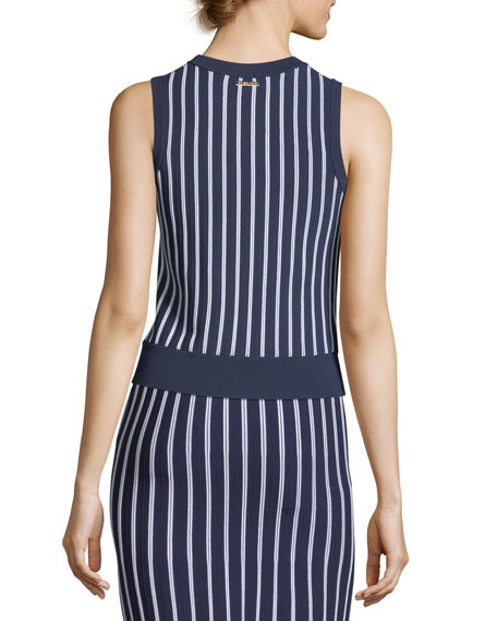 Vertical Striped Sleeveless Top