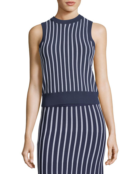 MICHAEL Michael Kors Vertical Striped Sleeveless Top and