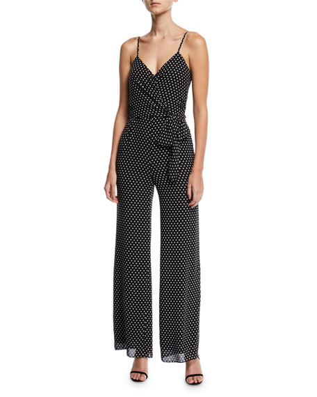 MICHAEL Michael Kors Simple Dot Faux-Wrap Jumpsuit