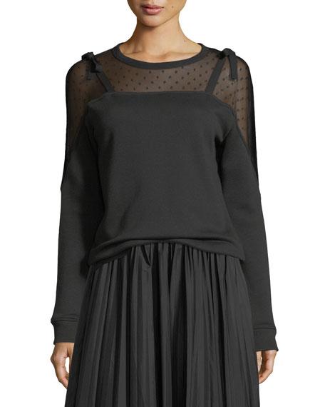 REDValentino Dot Mesh-Yoke Sweatshirt and Matching Items