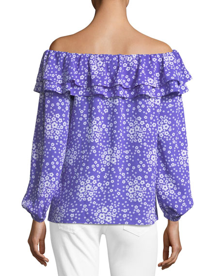 Off-the-Shoulder Mod-Floral Top