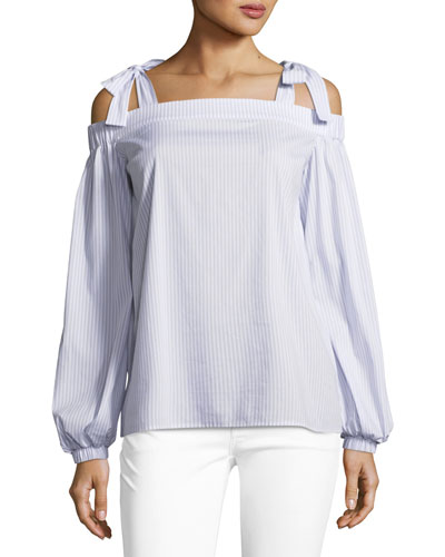 Bow-Detail Off-the-Shoulder Top