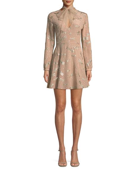 Glitter Dragonflies Silk Crepe Dress