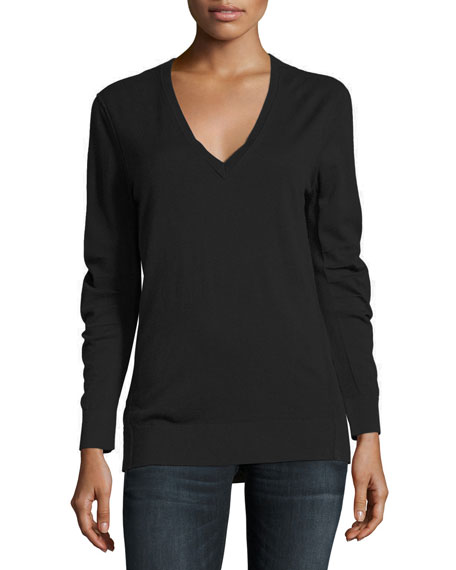 Manchester Great Sale Sale Online Check detail cashmere v-neck sweater - Green Burberry Cheap Eastbay Sale Collections Sale Explore Manchester Sale Online AZKAS