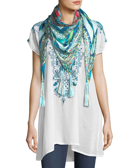 Eros V-Neck Embroidered Tunic