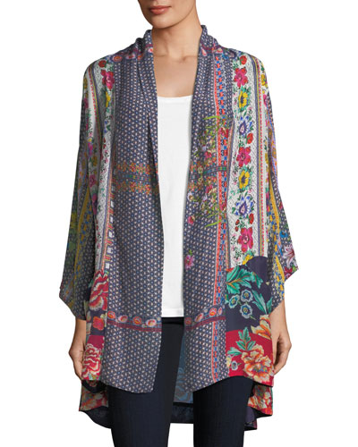 Romishka Silk Kimono Jacket, Plus Size