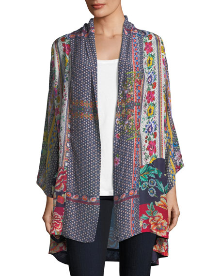 Johnny Was Romishka Silk Kimono Jacket, Plus Size