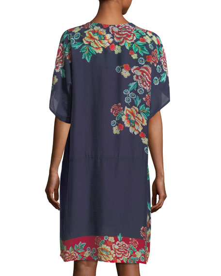 Charmrose Printed Tunic Dress, Plus Size