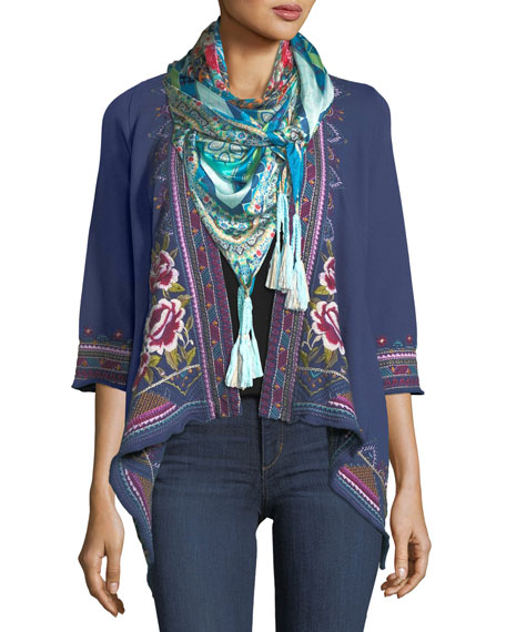 Langley French Terry Draped Cardigan