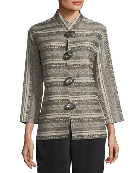 Mixed Striped Jacquard Jacket