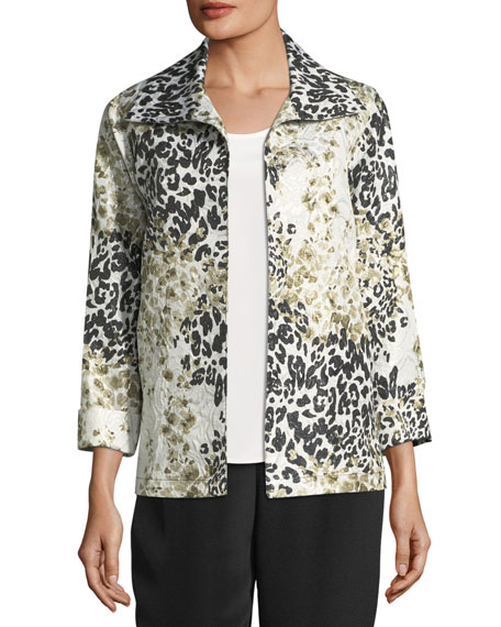Caroline Rose Double Take Jacquard A-line Jacket, Plus