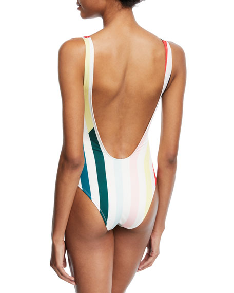 The Michelle Striped One-Piece Swimsuit