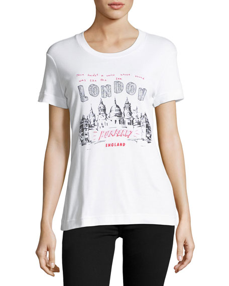 Burberry London Scribble Graphic T-Shirt