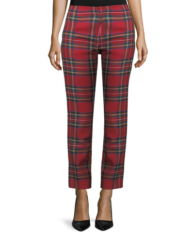 Tartan Cigarette Trouser Pants
