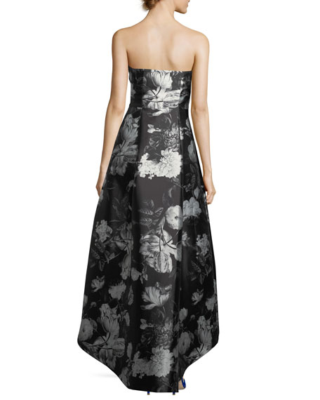 Cathy Embroidered Strapless Gown
