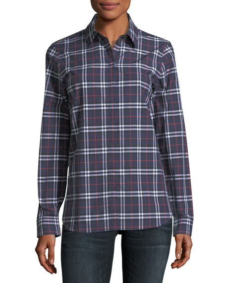 Burberry Check Long-Sleeve Shirt