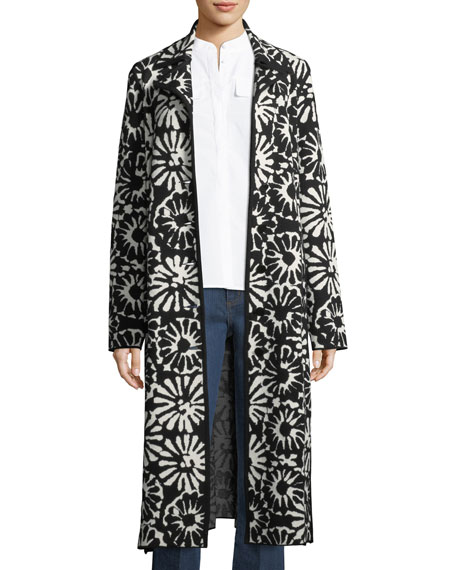 Tory Burch Rosalie Pomela Floral-Print Coat and Matching