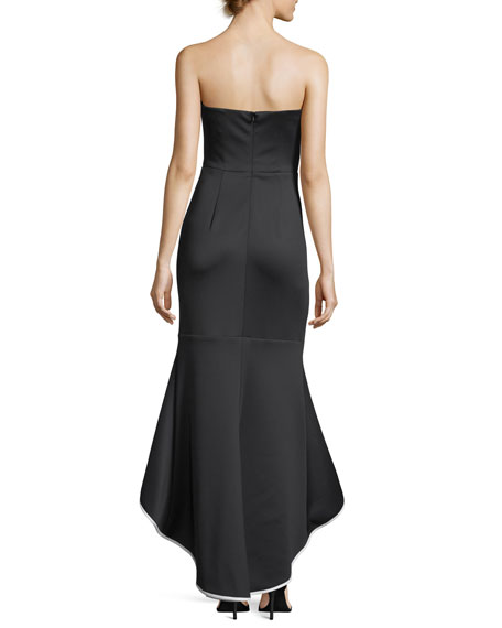 Dylan Strapless High-Low Gown