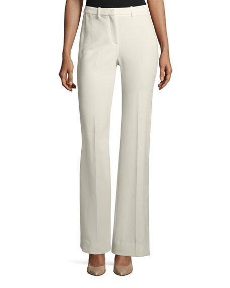 Theory Demitria 2 Admiral Crepe Flared-Leg Pants