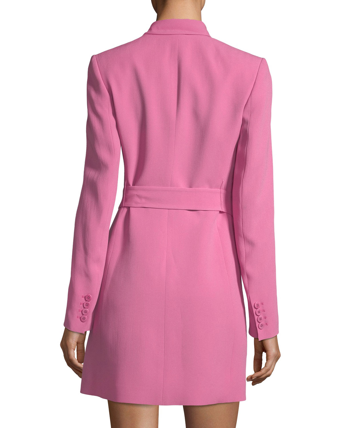 0234b6ef7b Theory Double-Breasted Belted Admiral Crepe Blazer Dress | Neiman Marcus
