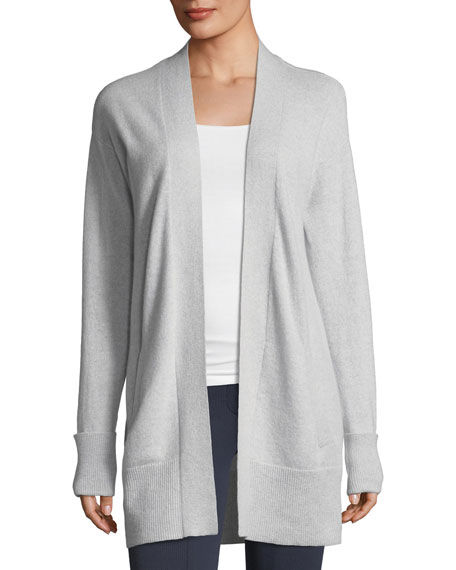 Theory Open-Front Relaxed Cashmere Cardigan Sweater