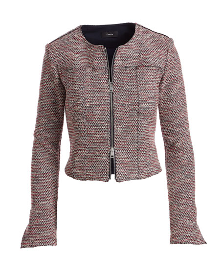 Ualana Z Beacon Tweed Zip-Front Cropped Jacket