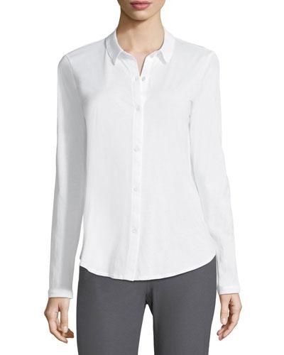 Organic Cotton Jersey Collared Shirt