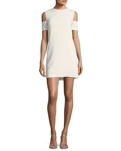Viscose-Stretch Arm-Cuff Dress