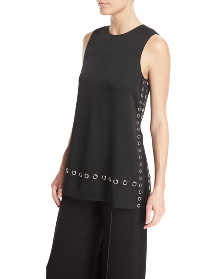 Elizabeth and James Khan Grommet-Detail Sleeveless Top