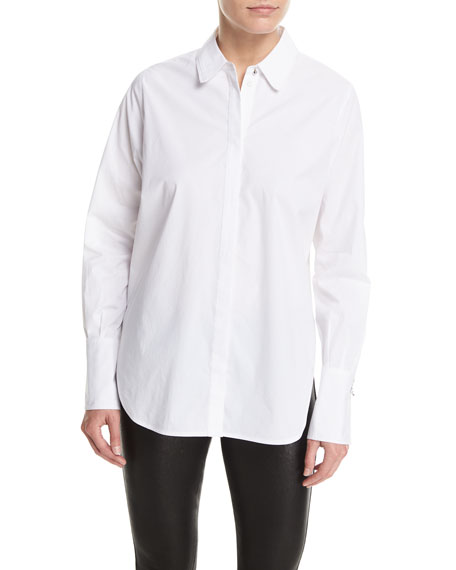 Elizabeth and James Jasper Grommet-Cuff Poplin Blouse